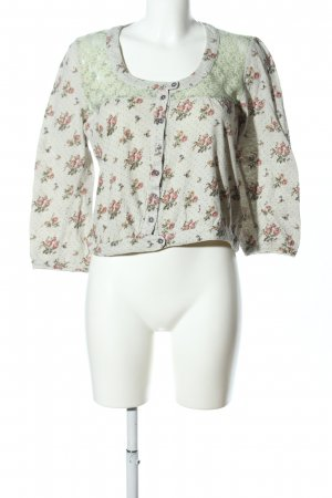 Container Longsleeve pink-green flower pattern casual look
