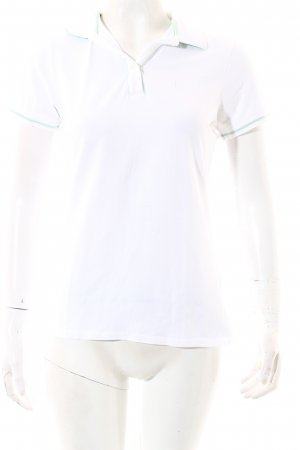 Conte of Florence Polo Shirt white-mint athletic style