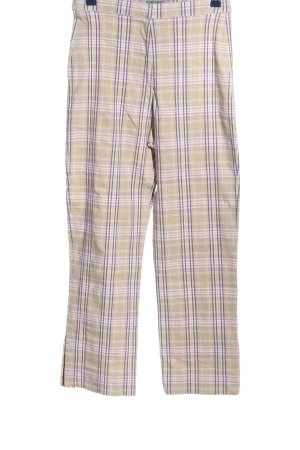 Contempo Jersey Pants check pattern casual look