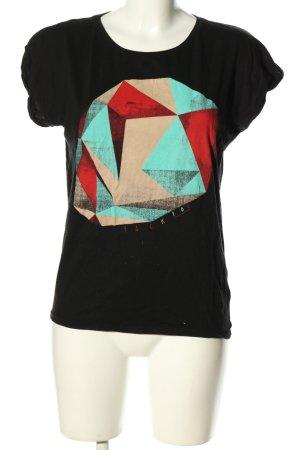 Continental Print-Shirt Motivdruck Casual-Look