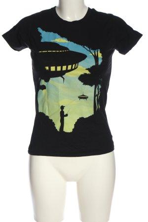 Continental T-Shirt black-green themed print casual look