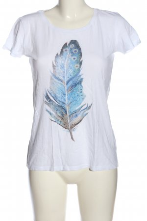 Continental T-shirt Stampa a tema stile casual