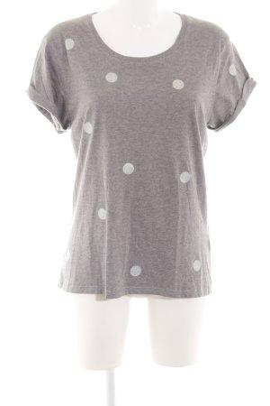 Continental T-shirt grigio chiaro-argento puntinato stile casual