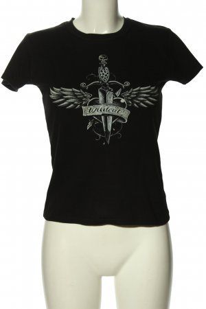 Continental T-Shirt black themed print casual look