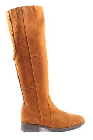Continental Wide Calf Boots light orange elegant