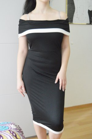 Contrast Off Shoulder Midi Kleid gr.40