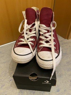 Converse Basket à lacet rouge foncé-blanc