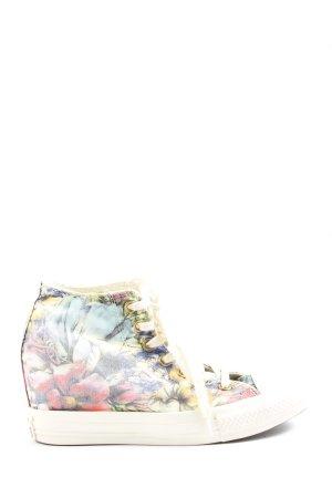 Converse Sneakers met hak bloemenprint casual uitstraling