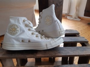 Converse All Star Chucks Creme/Gold