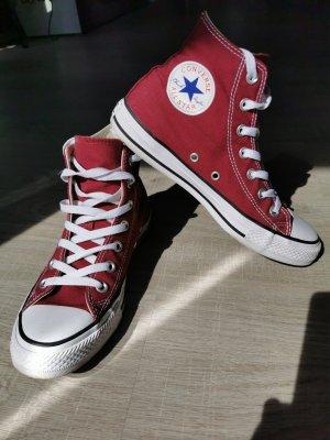 Converse Sneaker alta rosso scuro-bordeaux