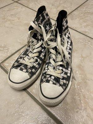 Converse Zapatillas altas negro-blanco Lino