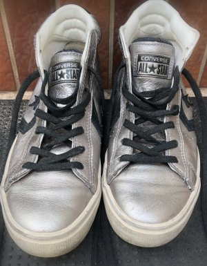 Converse Lace-Up Sneaker silver-colored-black