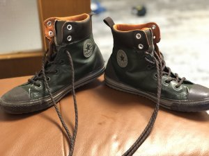 Converse Lace-Up Sneaker green grey