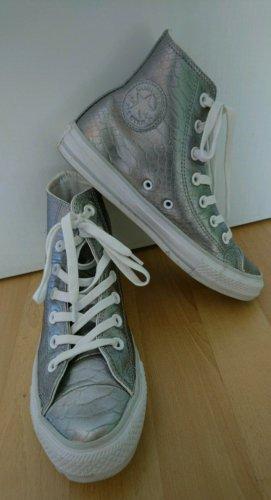 Converse All Star - Silberne High Top Chucks