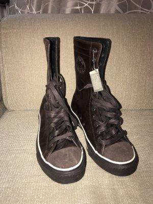 Converse Bottines à lacets brun foncé