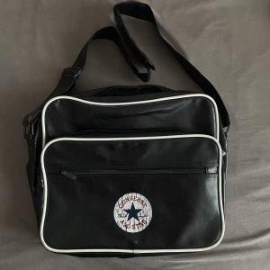 Converse Crossbody bag black-white leather