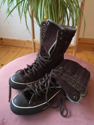 Converse Lace-up Booties bronze-colored mixture fibre