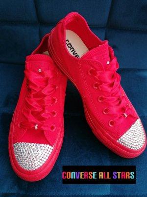 Converse All Stars Sneaker Gr 36 Mit Strasssteinen Crystal Premium Qualität