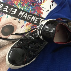 Converse all Stars Sneakers schwarz Lackleder 39 6