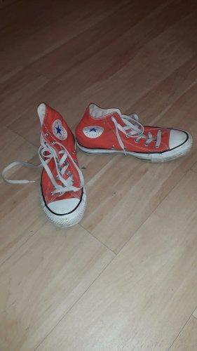 Converse Zapatos de patinador naranja-rojo tejido mezclado