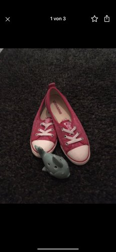 Converse Ballerina aperta sul tallone bianco-rosa