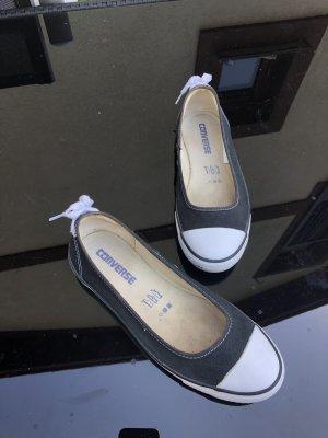 Converse Slip-on Sneakers black-white linen