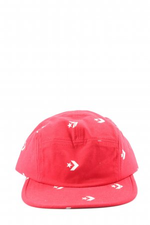Converse Baker's Boy Cap red-white allover print casual look