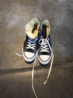Converse, blau, hoch