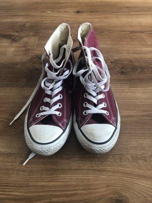 Converse High Top Sneaker white-bordeaux