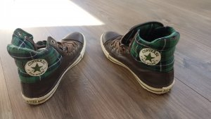 Converse Lace Shoes dark brown-forest green leather