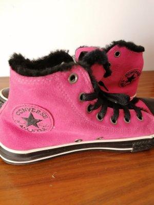 Converse High Top Sneaker black-magenta