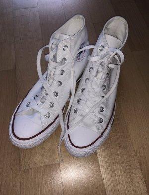Converse Sneaker alta bianco-rosso