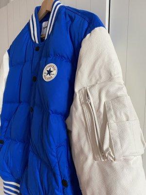 Converse Chaqueta estilo universitario blanco puro-azul