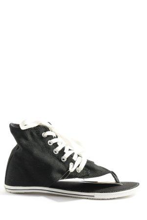 Converse Tong noir-blanc style décontracté