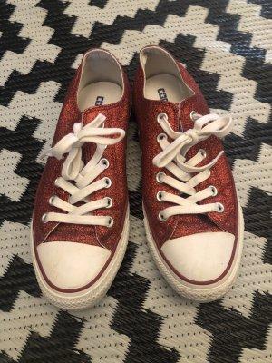 Converse Zapatos de patinador rojo oscuro