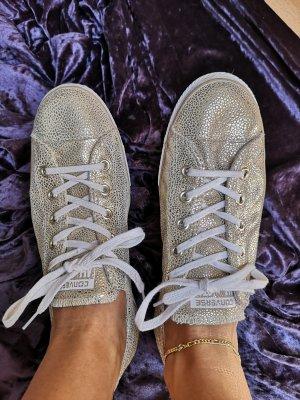 Converse Gold Sneaker Chucks aus Leder Krokodil Prägung