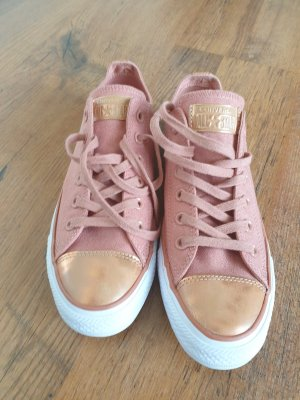 Converse Chaussures à lacets or rose