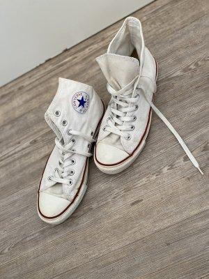 Converse Gr.40 weiß hoch stoffschuhe Chucks Schuhe