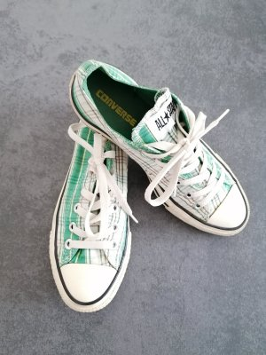 Converse Lace-Up Sneaker green cotton