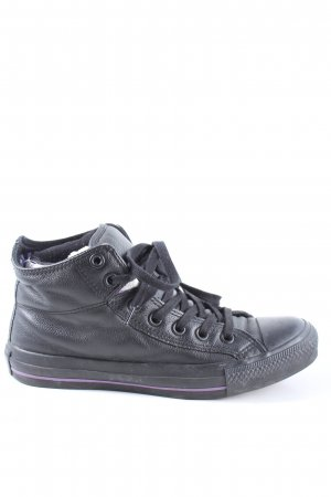 Converse Wysokie trampki czarny W stylu casual