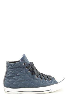 Converse High Top Sneaker blau-weiß Steppmuster sportlicher Stil