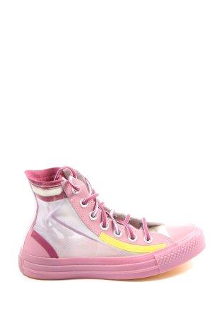 Converse Zapatillas altas rosa-amarillo pálido look casual