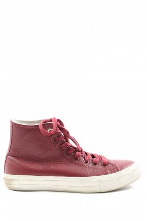 Converse High Top Sneaker rot Allover-Druck Casual-Look