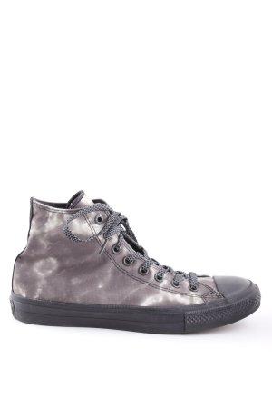 Converse High Top Sneaker hellgrau-schwarz abstraktes Muster Casual-Look