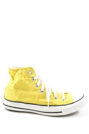 Converse Basket montante jaune primevère style décontracté