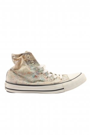 Converse High Top Sneaker creme abstraktes Muster Casual-Look