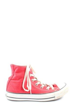 Converse Basket montante rouge-blanc style décontracté