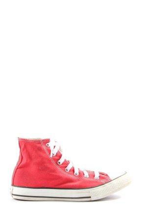 Converse Basket montante rouge style décontracté