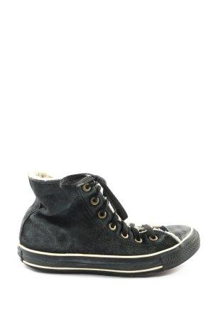 Converse Zapatillas altas negro look casual