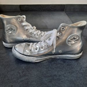 Converse High Top Sneaker Silber Casual-Look